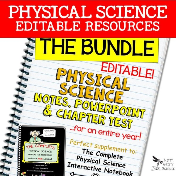 LS Bundle 1 - PHYSICAL SCIENCE CURRICULUM - THE COMPLETE COURSE ~ 5 E Model