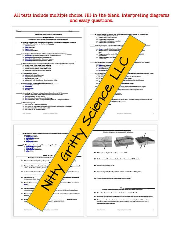 demoEarthScienceNotesChapterTestPlateTectonicsEDITABLE1525350 Page 6 - Plate Tectonics: Earth Science Notes, PowerPoint & Chapter Test ~ EDITABLE!