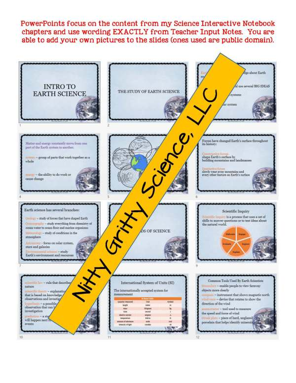 demoEarthScienceNotesPowerPointTestIntrotoEarthScienceEDITABLE2118390 Page 5 - Intro to Earth Science: Earth Science Notes, PowerPoint & Test ~ EDITABLE