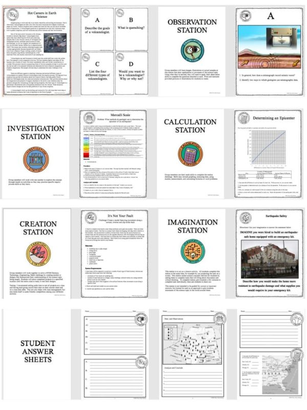 demoPreviewForcesthatShapetheEarth 1 Page 4 - FORCES THAT SHAPE THE EARTH - Demo, Labs and Science Stations {Earth Science}