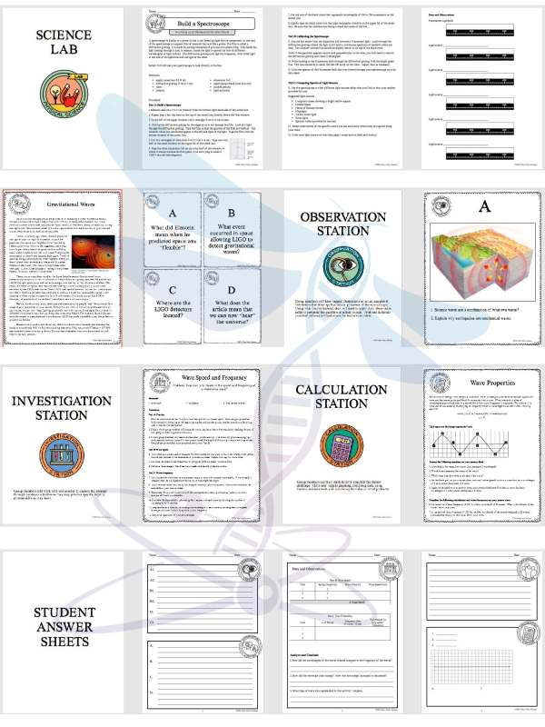 demoPreviewWavesandElectromagneticSpectrum Page 4 - WAVES AND THE ELECTROMAGNETIC SPECTRUM - Demos, Labs and Science Stations