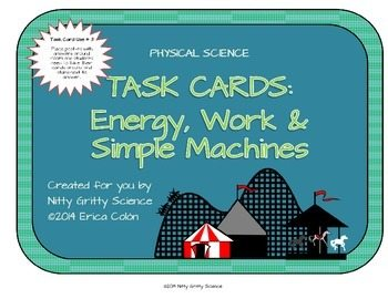 original 1151553 1 - Energy, Work and Simple Machines: Physical Science Task Cards