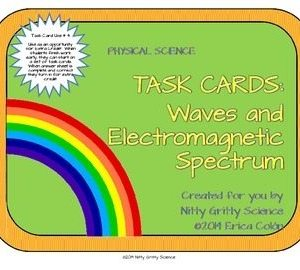original 1156612 1 - Waves and Electromagnetic Spectrum: Physical Science Task Cards