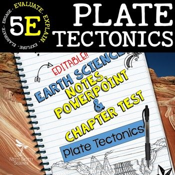 original 1525350 1 - Plate Tectonics: Earth Science Notes, PowerPoint & Chapter Test ~ EDITABLE!
