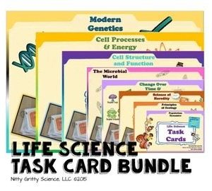original 1634615 1 - Life Science Task Card BUNDLE