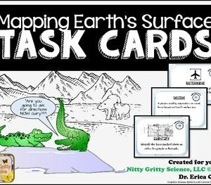 original 2093673 1 - Mapping Earth's Surface: Earth Science Task Cards