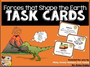 original 2137533 1 - Forces that Shape the Earth: Earth Science Task Cards