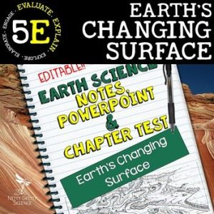 original 2208008 1 - Earth's Changing Surface: Earth Science PowerPoint, Notes & Test ~ EDITABLE!