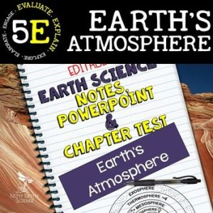original 2290257 1 - Earth's Atmosphere: Earth Science PowerPoint, Notes & Test ~ EDITABLE!