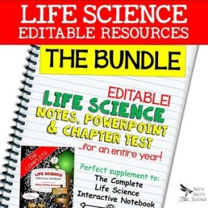original 2302221 1 - Life Science Curriculum - Notes, PowerPoint, and Chapter Tests ~ EDITABLE Bundle