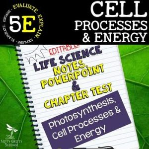 original 2348848 1 - Cell Processes and Energy Life Science Notes, PowerPoint & Test~ EDITABLE