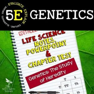 original 2350521 1 - Genetics - Study of Heredity: Life Science Notes, PowerPoint and Test ~ EDITABLE