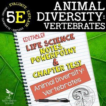 original 2398467 1 - Animal Diversity: Vertebrates Life Science Notes, PowerPoint & Test~ EDITABLE
