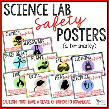 original 2692109 1 - LAB SAFETY POSTERS - Secondary Science (humor)