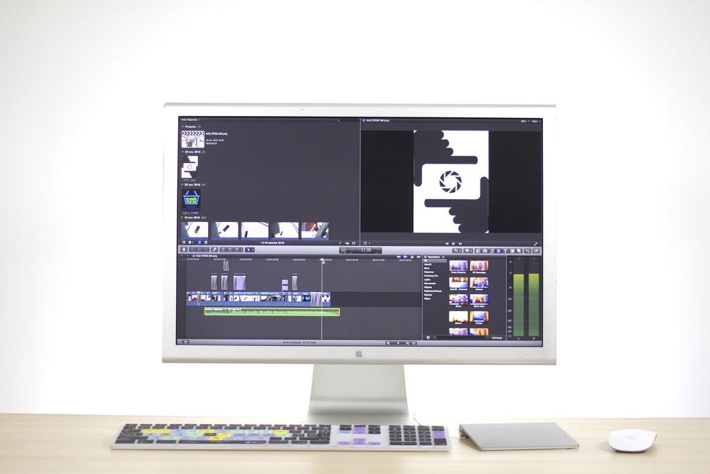video siendo editado en una computadora, la producción y publicación de videos es una forma de content marketing
