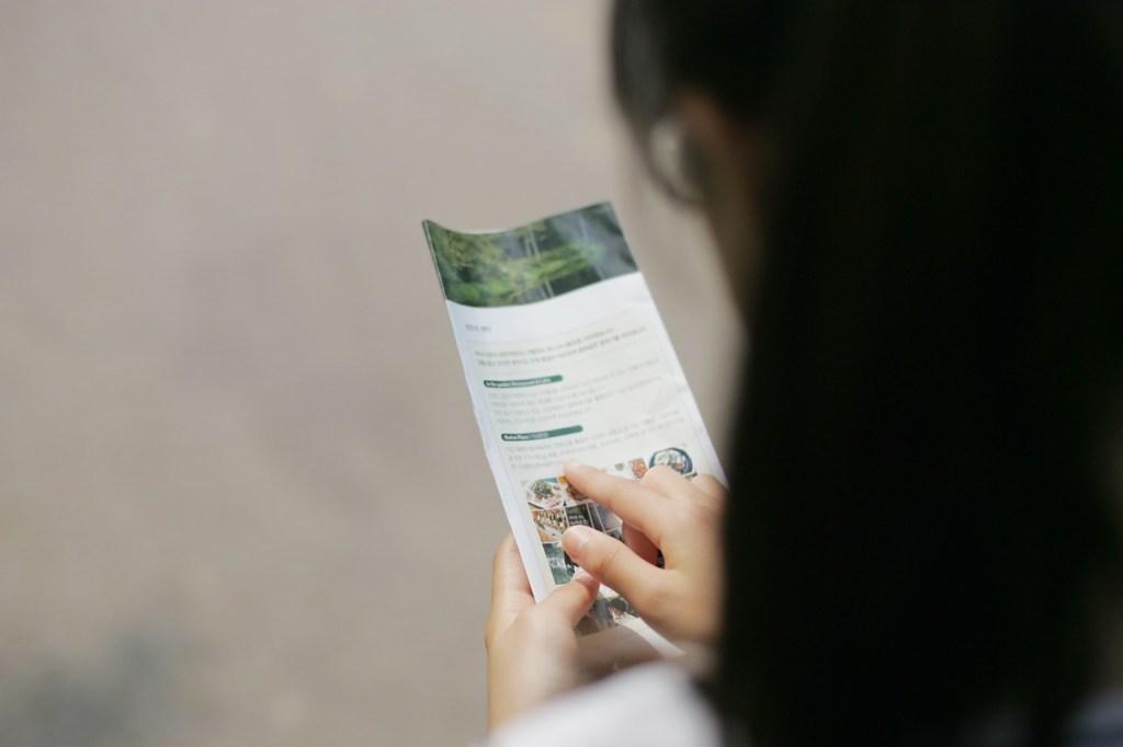 Persona Leyendo Folleto. Con Un Sitio Web, No Requerirás Impresiones Nuevas, Gran Ventaja
