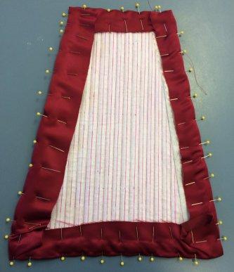 Back panel fabric foled