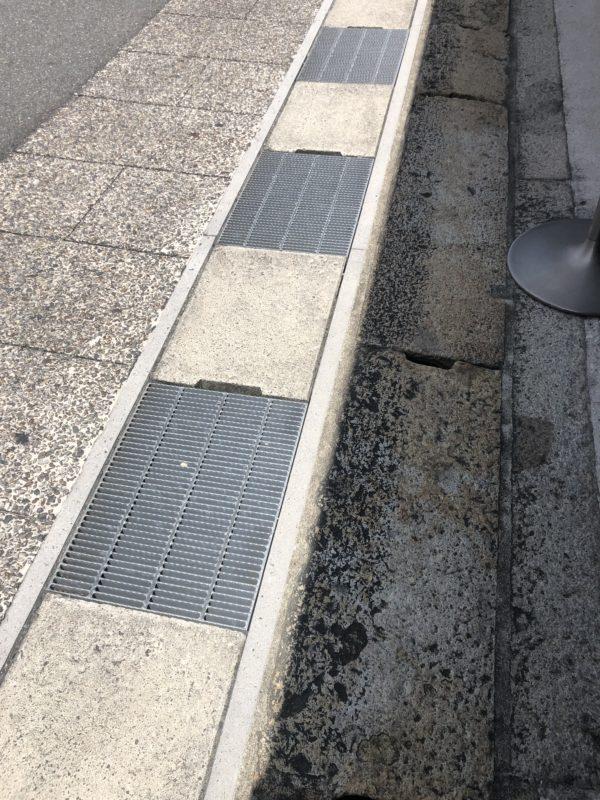 御影石 排水溝 蓋