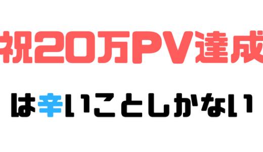 【1ヶ月で20万PV達成 】初めての20万PVは辛いことしか起きなかった