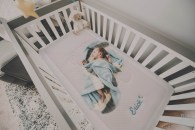 Colchón de cuna - Bebé durmiendo en colchón de cuna NIX Baby