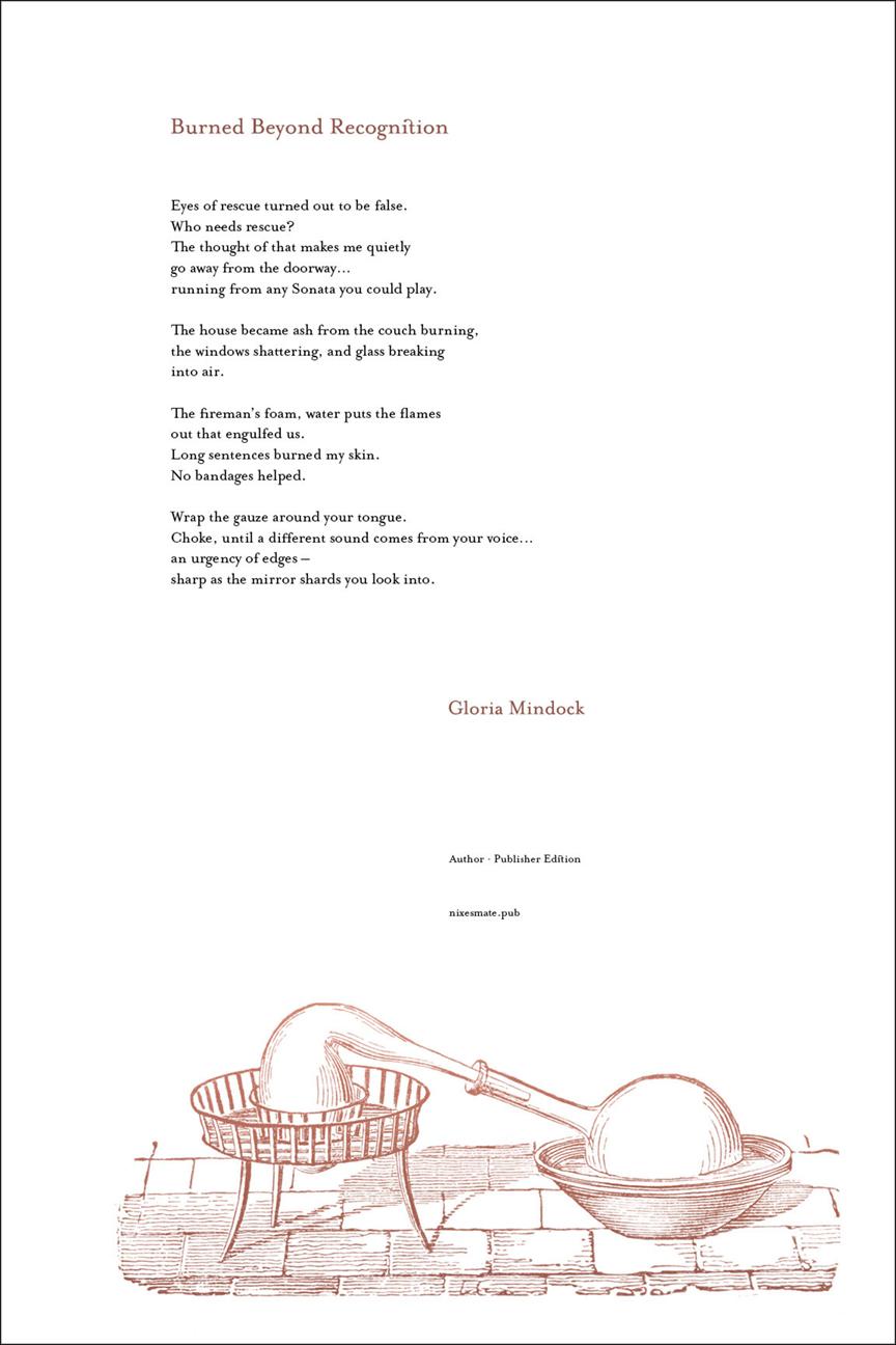 BURNED BEYOND RECOGNITION · GLORIA MINDOCK
