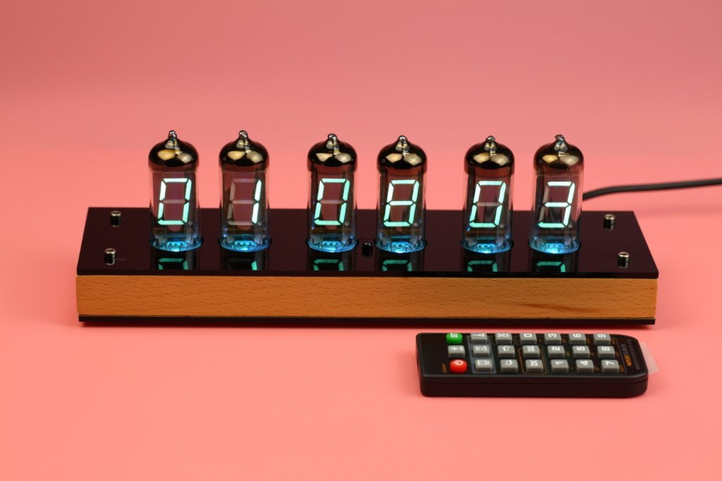 Assembled VFD Nixie Tube Clock IV-11 complete with remote control