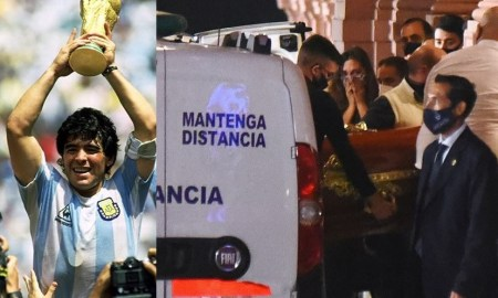 Diego Maradona's coffin arrives at Argentinian president's mansion