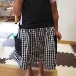 手作り子供服~オールシーズン着られるエプロンスカート!パーツが少なくて簡単に作れる!