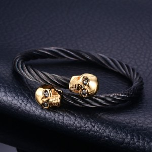 VNOX-Men-s-Skull-Bangle-Bracelet-Punk-Black-Twisted-Wire-Cable-Cuff-Skeleton-Stainless-Steel-Jewelry_9