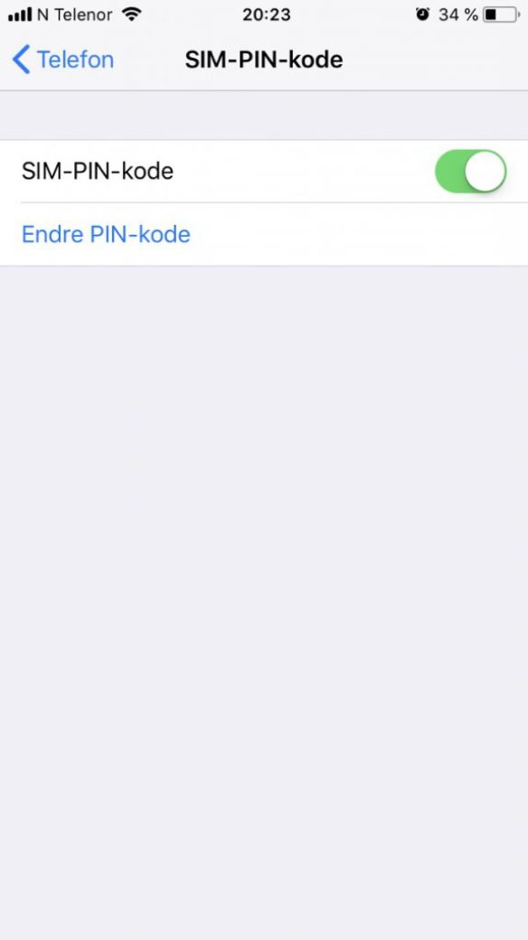 pinkode iphone