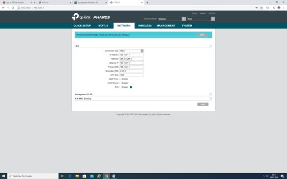 TP-Link CPE210 Repeater Nettverk