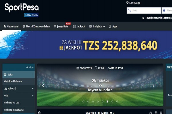 SportPesa Tanzania Registration, Bonus, App, Jackpot and PayBill Number