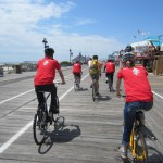 Bicyclists on the Ocean City Boardwalk