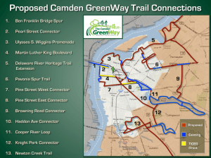 Proposed Camden Greenway Construction