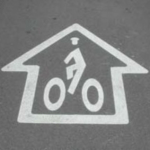 Original sharrow. Source: StreetsBlog USA