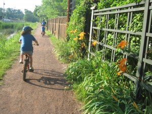Bicycling in the spring time on New Jersey's Delaware-Raritan Canal Path // Alan M. Voorhees Transportation Center