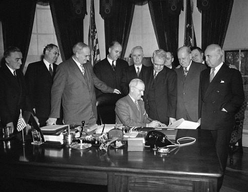 President Harry Truman Signs Employment Act of 1946