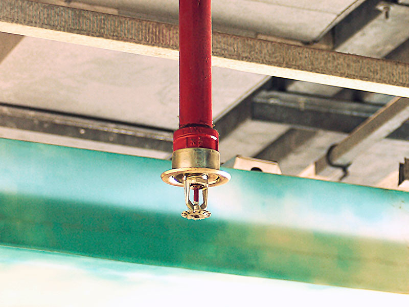 fire sprinklers save warehouse
