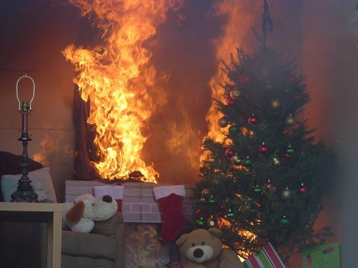 Christmas Tree On Fire.Xmas Tree Burn Demo Njfsab Penjerdel