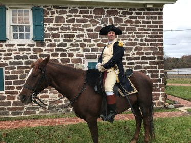 Former Commander in the US Navy, Dave Loda, who portrayed General Nathanael Greene. (Photo: George Macey)