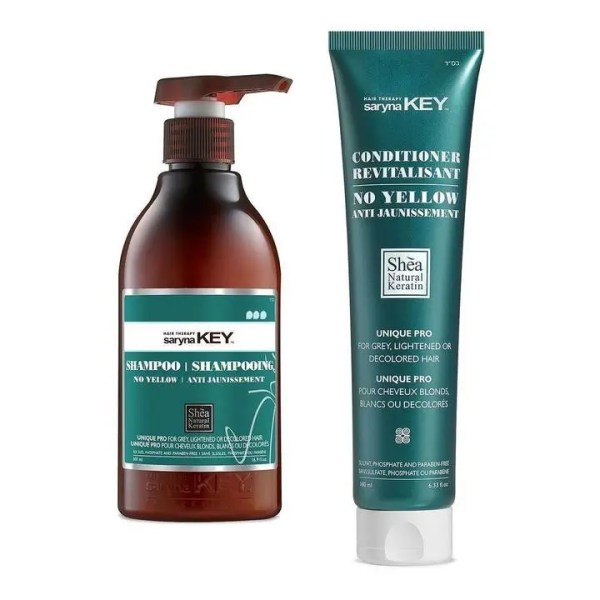 DUAL Shampoo| Condicionador de Pigmentação No yellow Saryna Key - 500ml|180mL