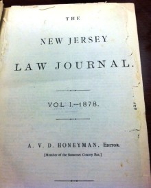 The very first edition of the New Jersey Law Journal