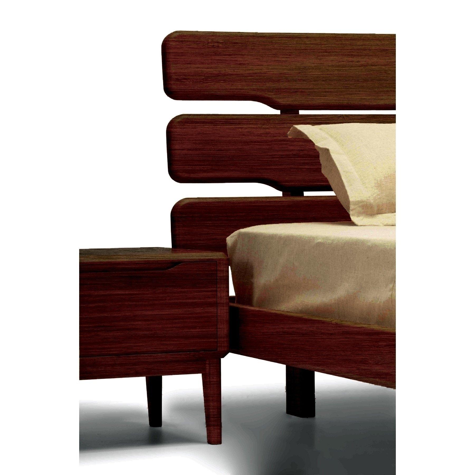 Currant Queen Platform Bed Black Walnut Njmodern Furniture