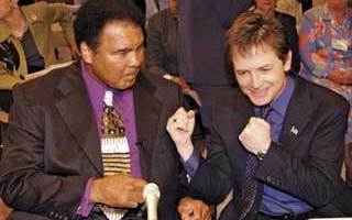Muhammad Ali and Michael J Fox fighting against Parkinsons disease