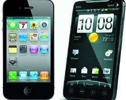 Apple versus Android with Android taking the lead