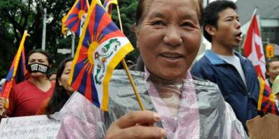 Free Tibet - one of the dozens of protest groups