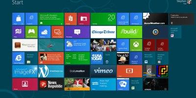 Windows 8 Metro home (picture NJN Network)