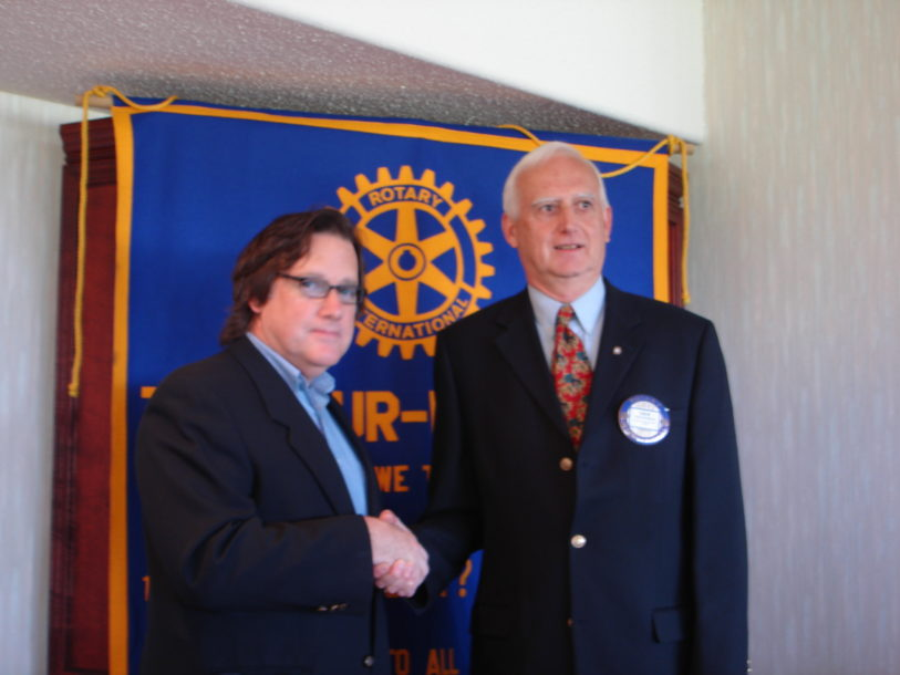 Disability advocate Stephen Pate speaks at Charlottetown Rotary on improving supports for people with disabilities (Guardian photo)