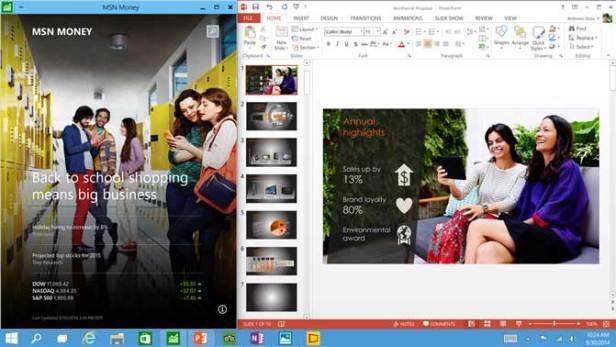 Apps run in a window - Windows 10