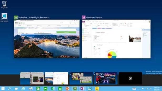 Multiple desktops - Windows 10